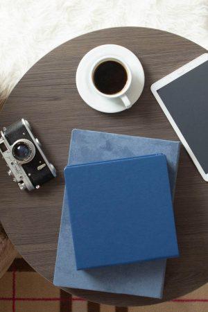 Folio Box Materials - Navy Blue